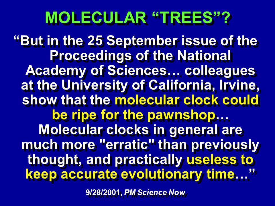 MOLECULAR TREES.