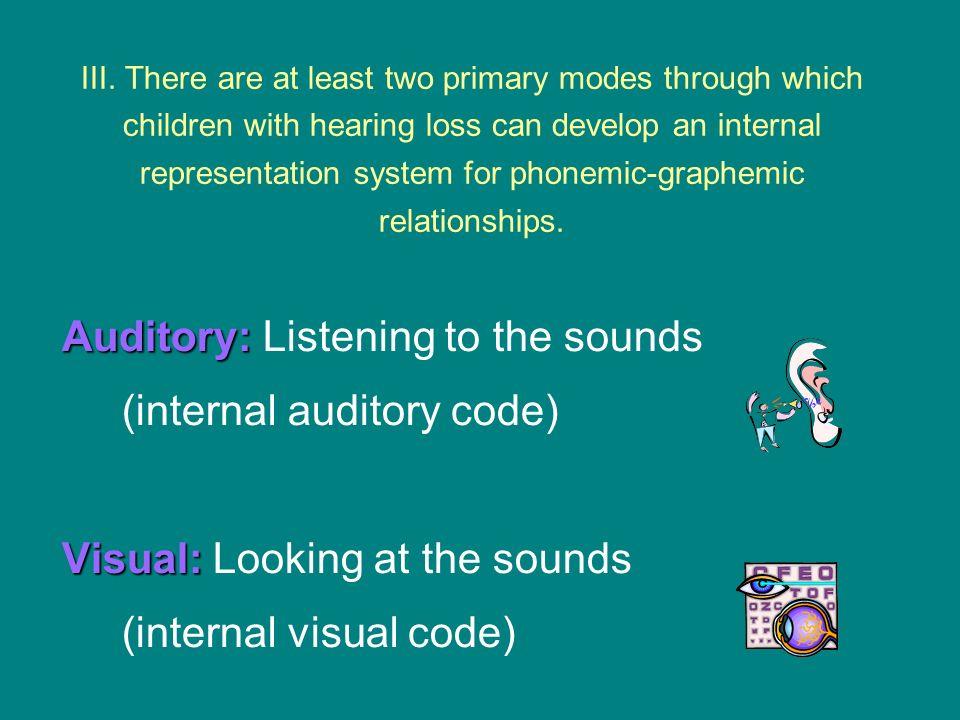 auditory mode IV.