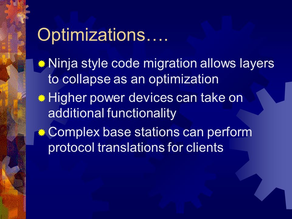 Optimizations….