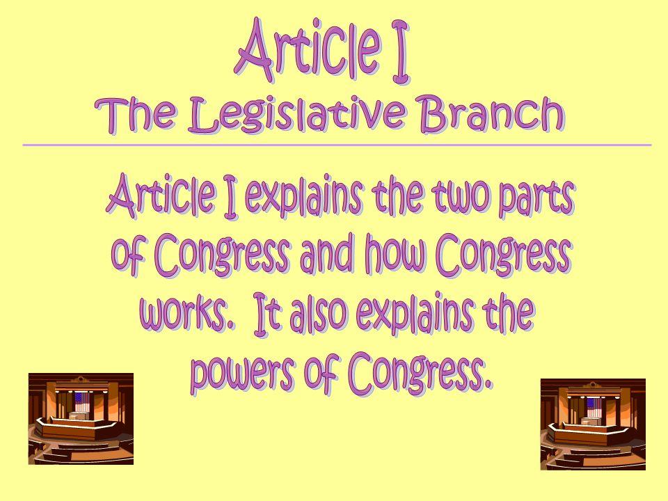 Each state has representatives that go to Washington D.C.
