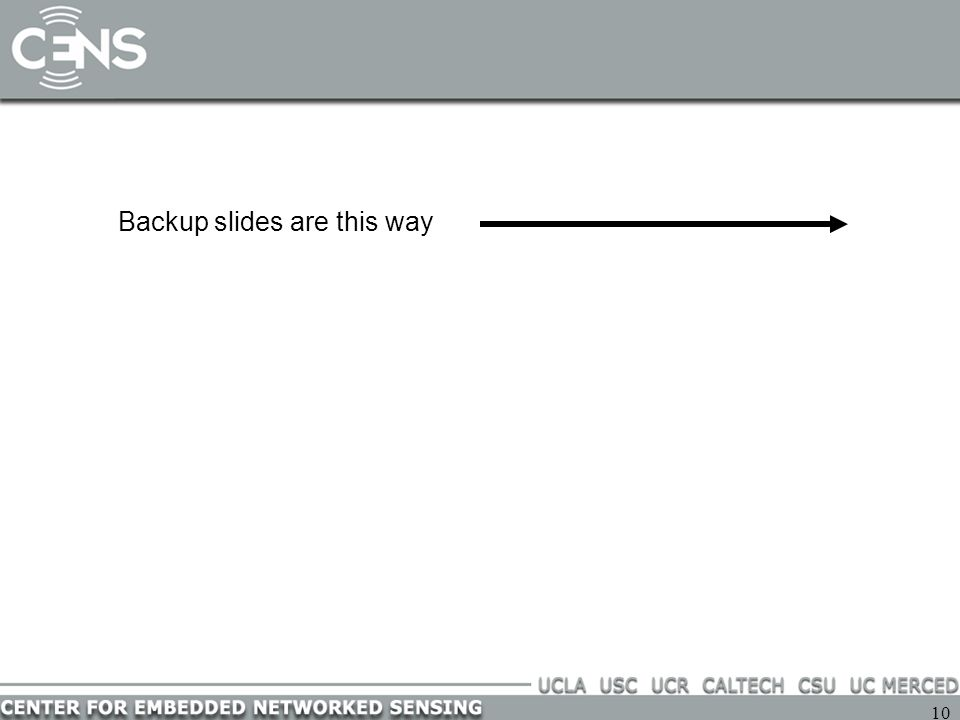 10 Backup slides are this way