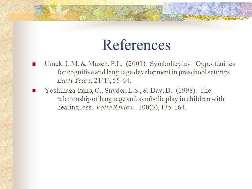 References Umek, L.M.& Musek, P.L. (2001).