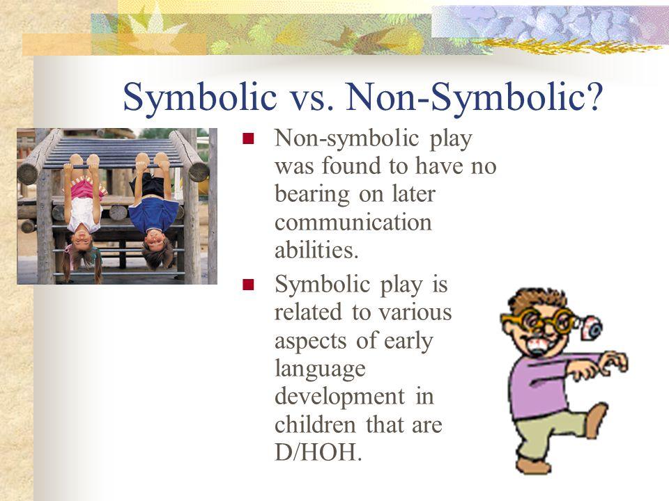 Symbolic vs.Non-Symbolic.
