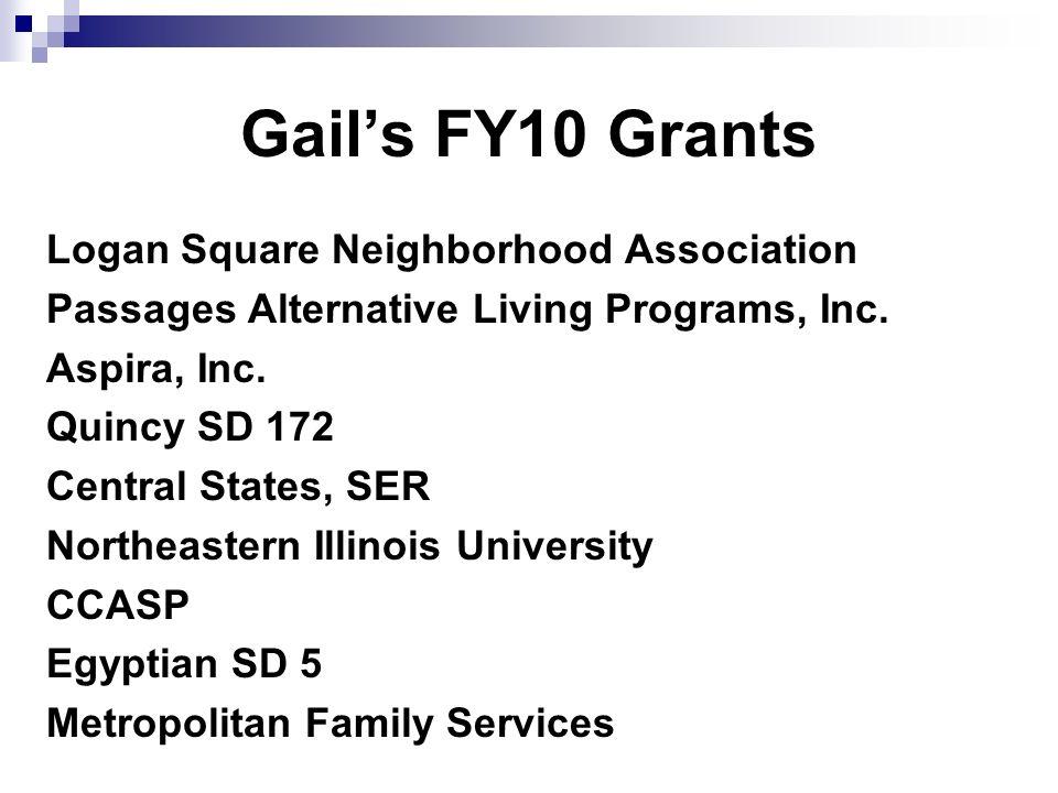 Gails FY10 Grants Logan Square Neighborhood Association Passages Alternative Living Programs, Inc.