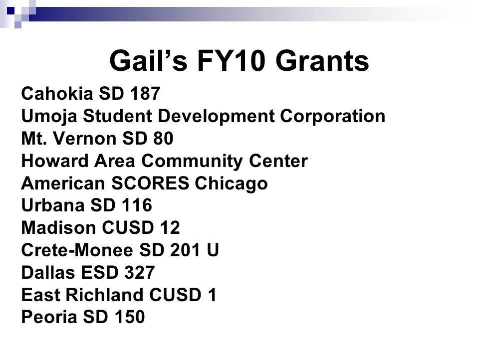 Gails FY10 Grants Cahokia SD 187 Umoja Student Development Corporation Mt.