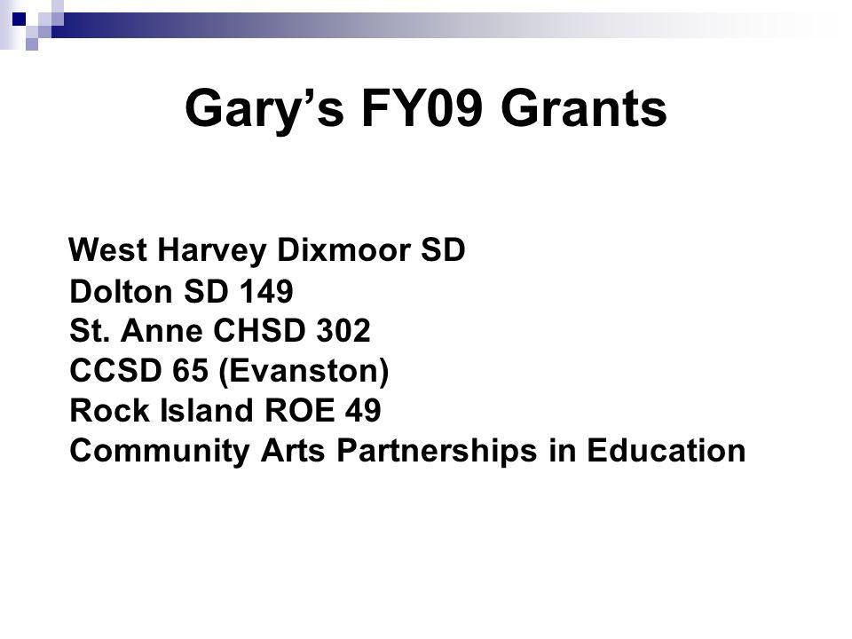 Garys FY09 Grants West Harvey Dixmoor SD Dolton SD 149 St.