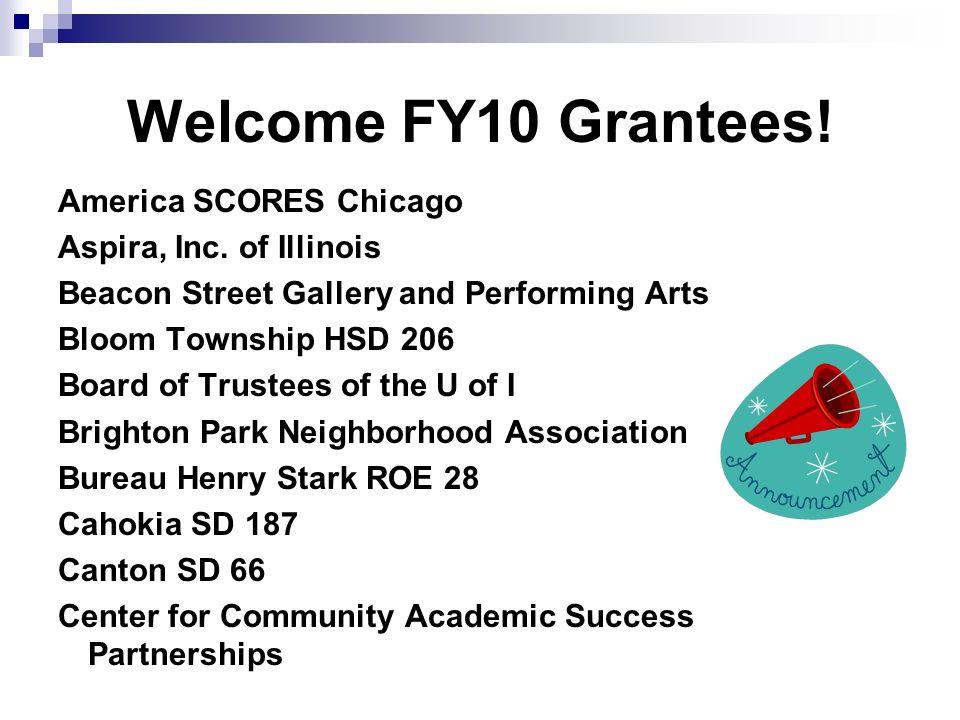 Welcome FY10 Grantees. America SCORES Chicago Aspira, Inc.