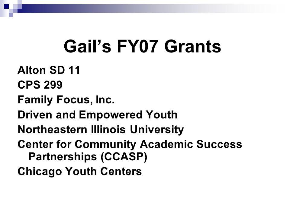 Gails FY07 Grants Alton SD 11 CPS 299 Family Focus, Inc.