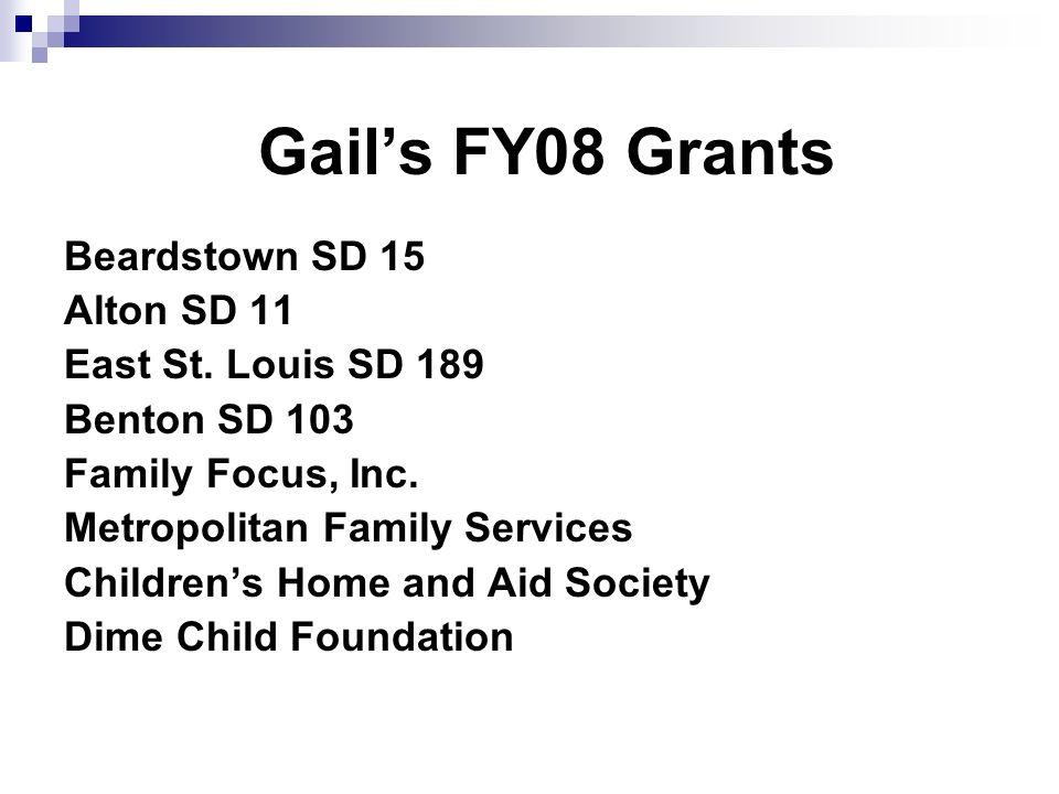 Gails FY08 Grants Beardstown SD 15 Alton SD 11 East St.