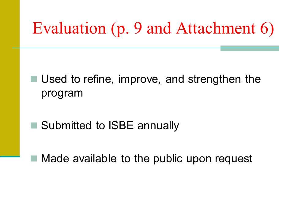 Evaluation (p.