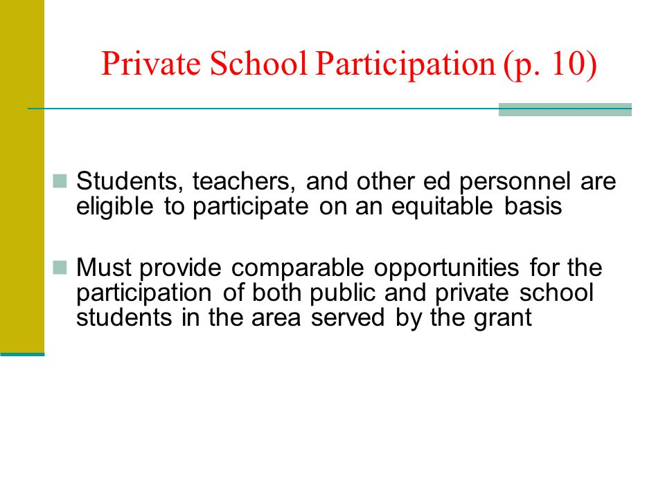 Private School Participation (p.