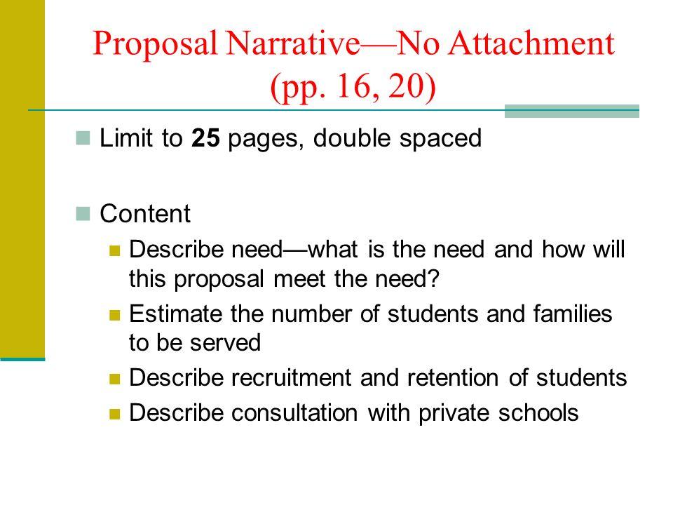 Proposal NarrativeNo Attachment (pp.
