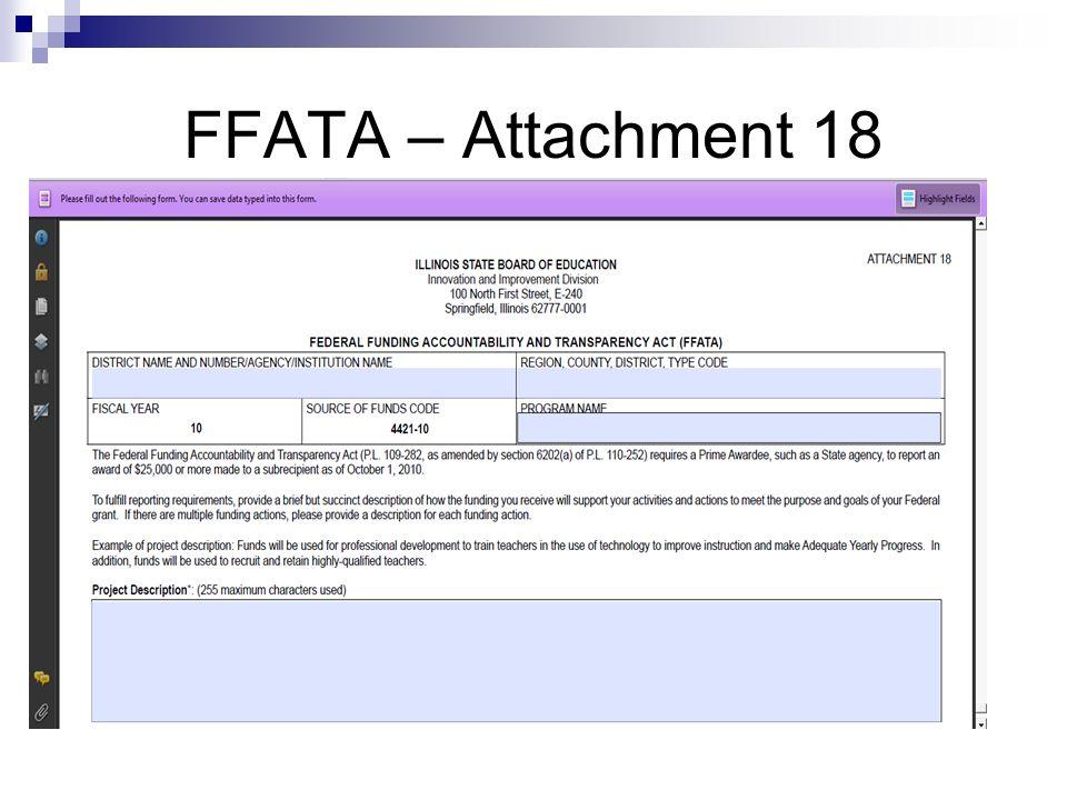 FFATA – Attachment 18