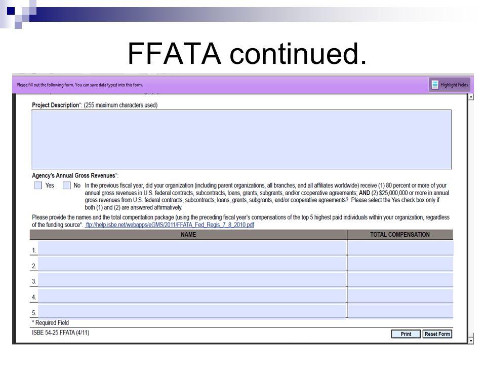 FFATA continued.