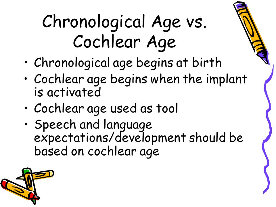 Chronological Age vs.