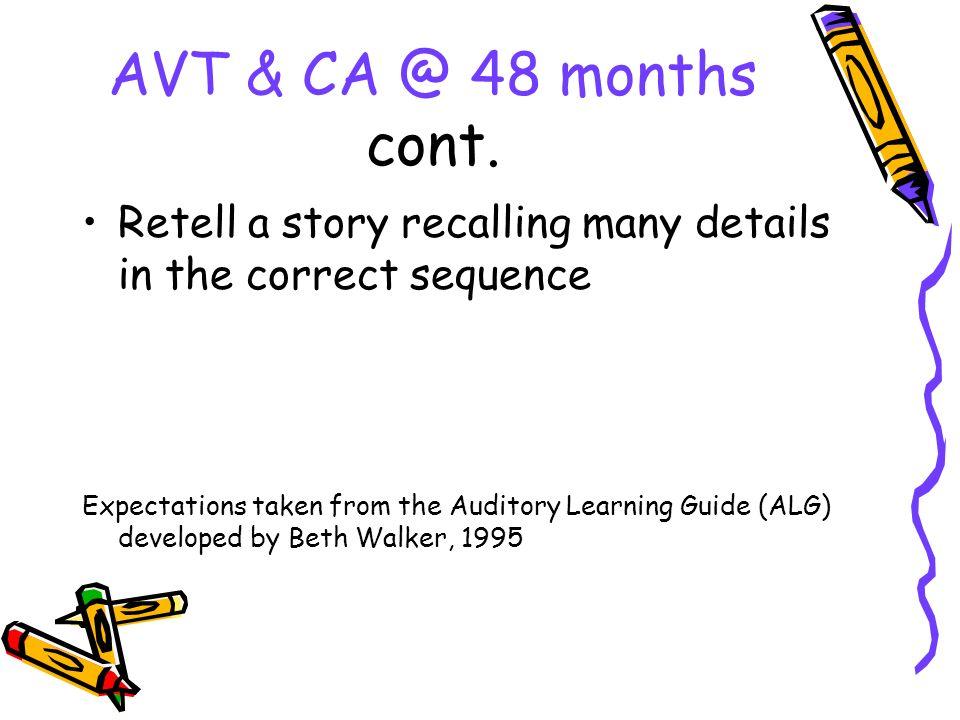 AVT & CA @ 48 months cont.