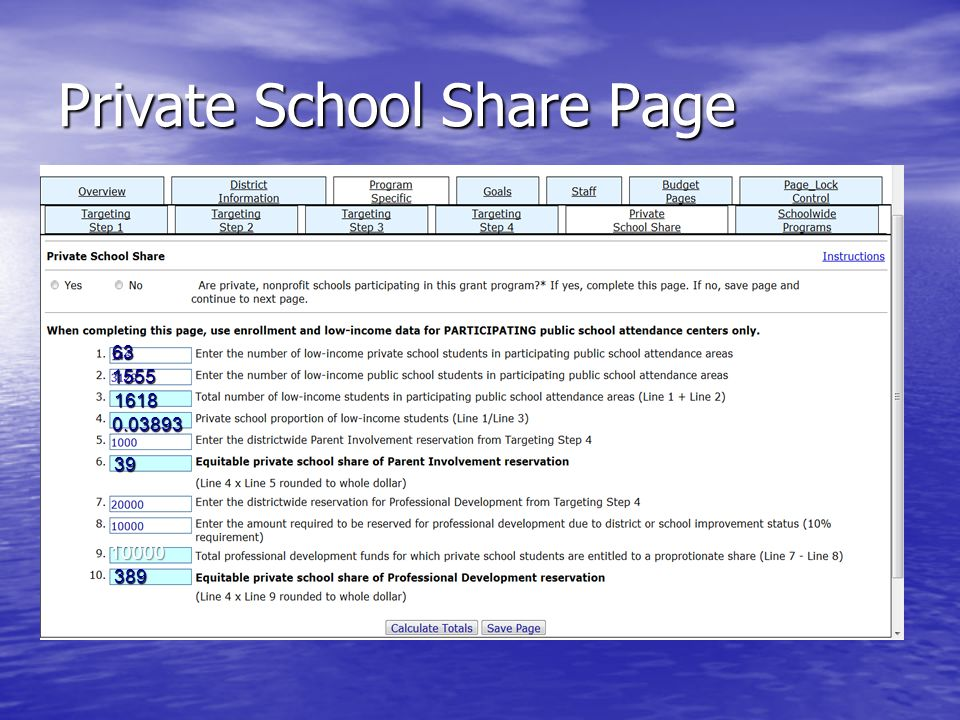 Private School Share Page 1618 0.03893 10000 389 1555 63 39