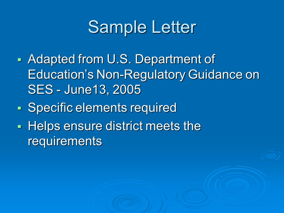 Sample Letter Adapted from U.S.