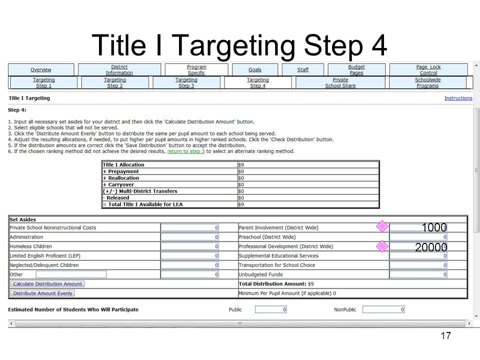 Title I Targeting Step 4 17 1000 20000