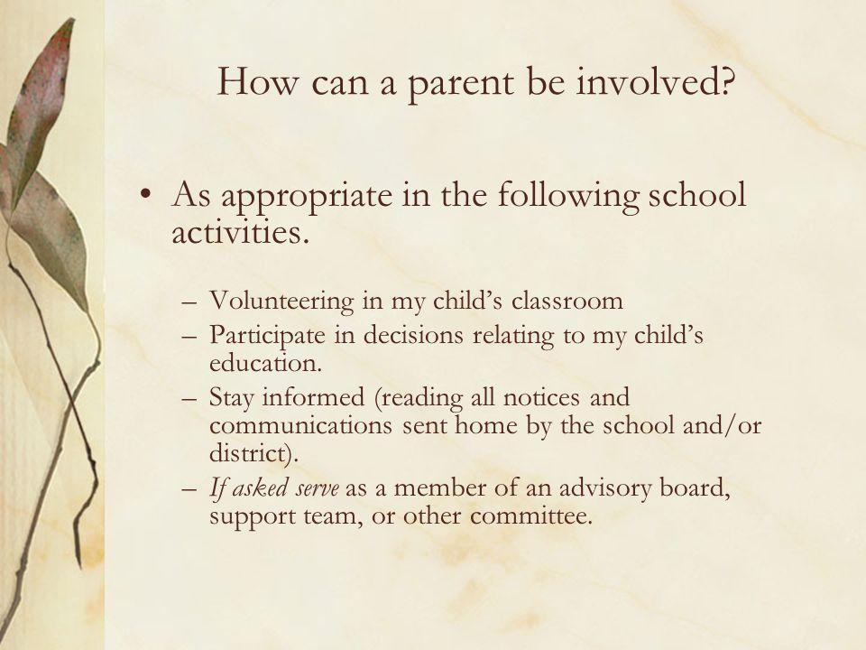Is it important.NCLB Title 1 Part A Subpart 1 Section 1111-1118 mentions Parents 300 times.