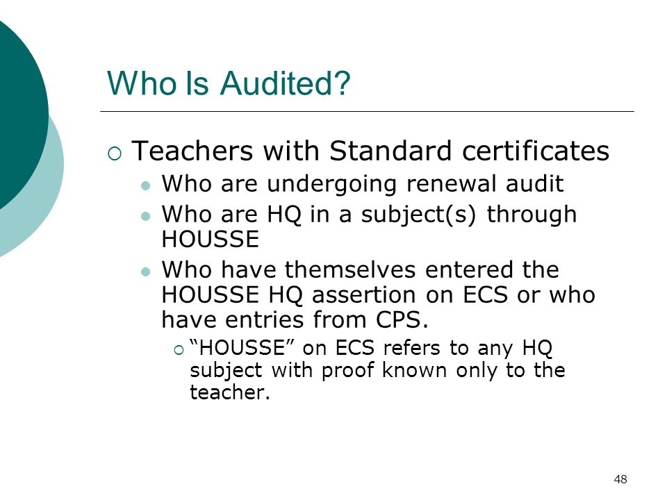 48 Who Is Audited.