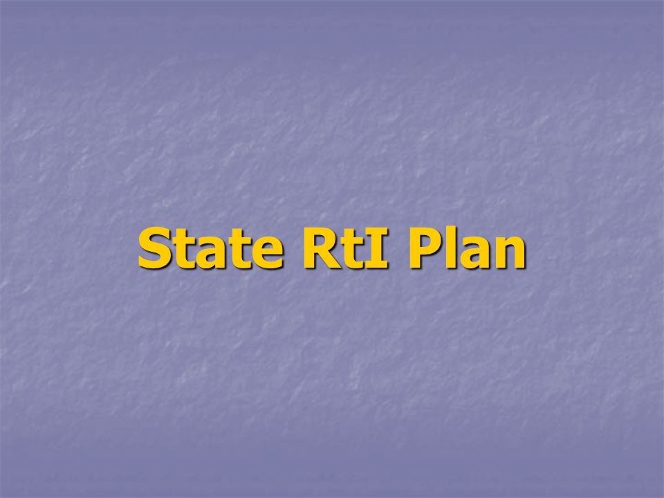 State RtI Plan