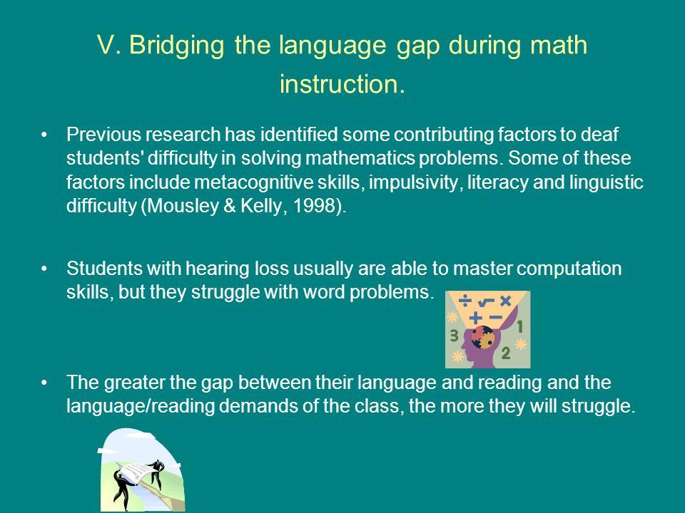 V.Bridging the language gap during math instruction.
