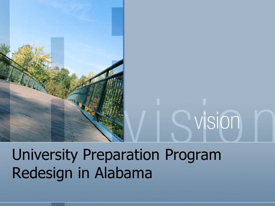 University Preparation Program Redesign in Alabama