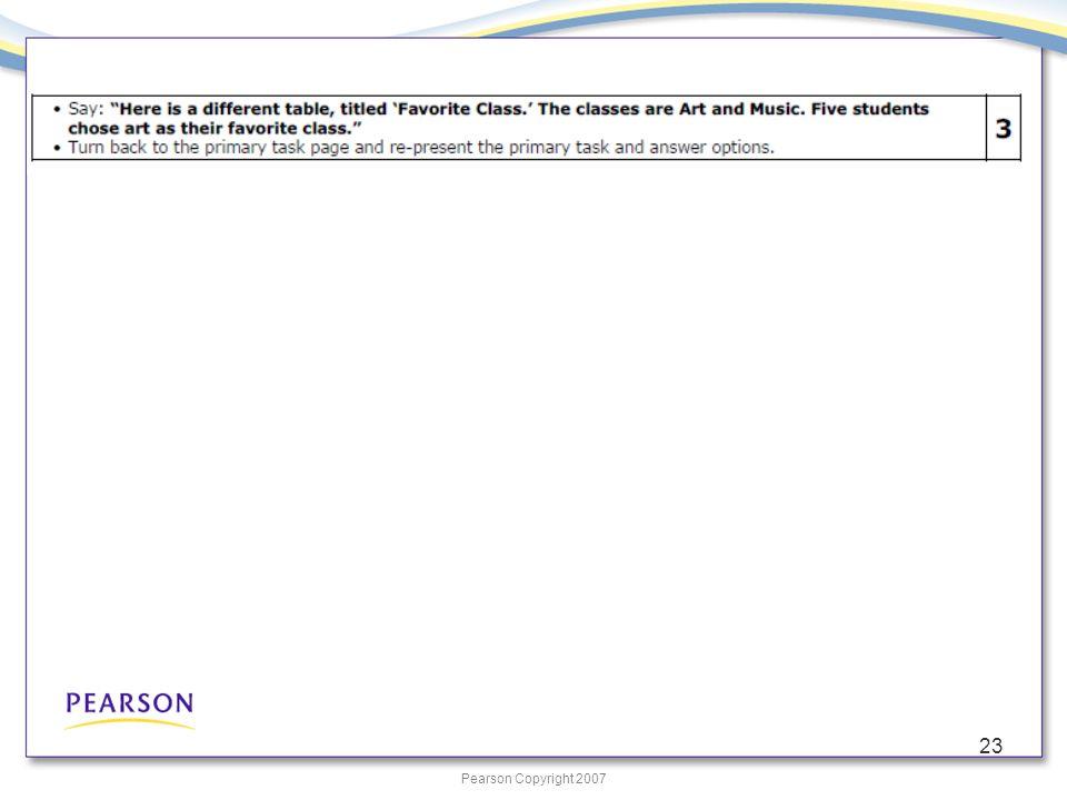 Pearson Copyright 2007 23