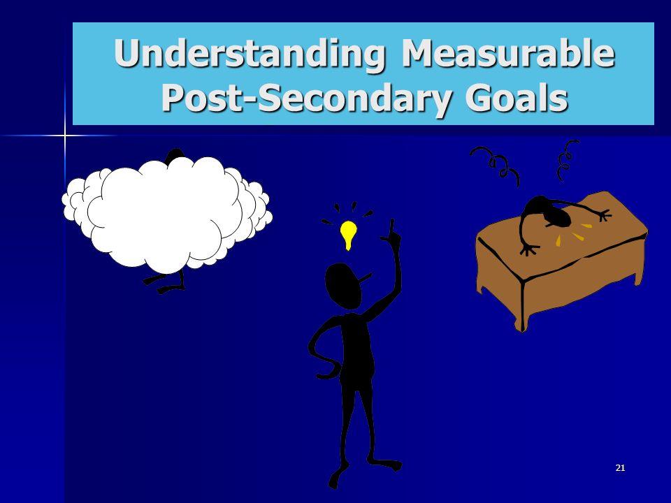 21 Transition: Centerpiece of the IEP Understanding Measurable Post-Secondary Goals