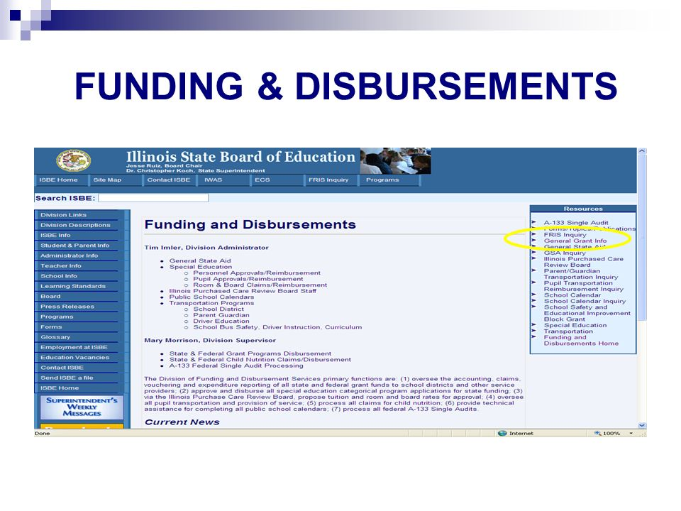 FUNDING & DISBURSEMENTS