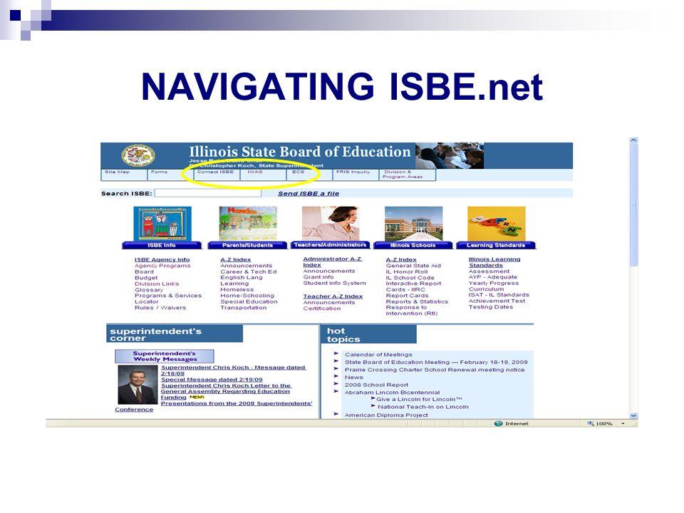 NAVIGATING ISBE.net