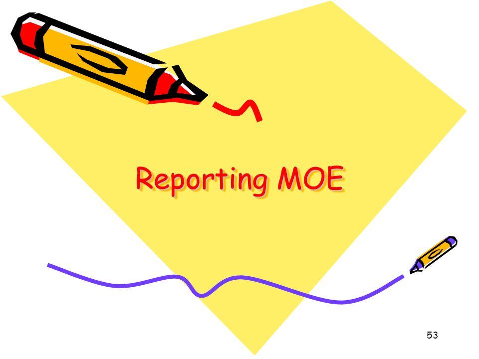 53 Reporting MOE