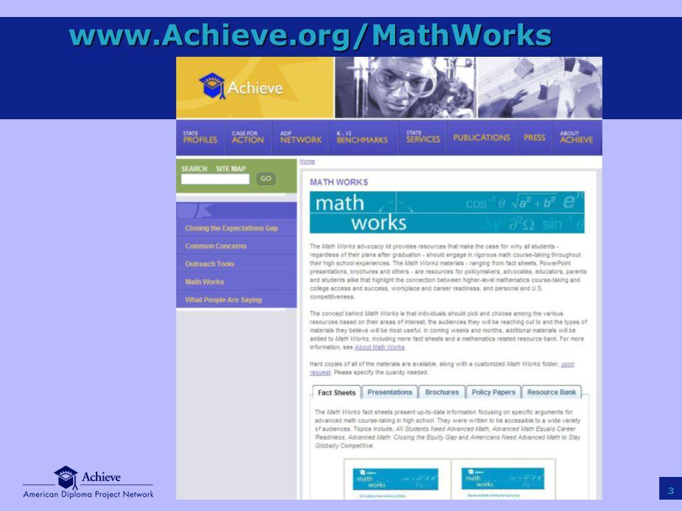 3 www.Achieve.org/MathWorks
