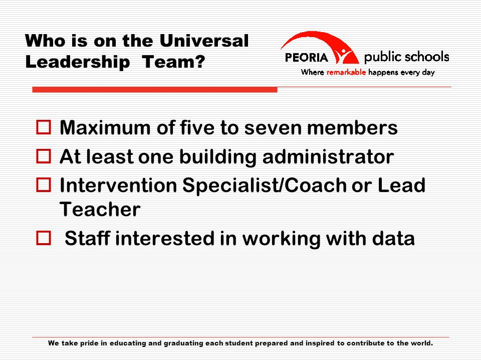 Who is on the Universal Leadership Team.