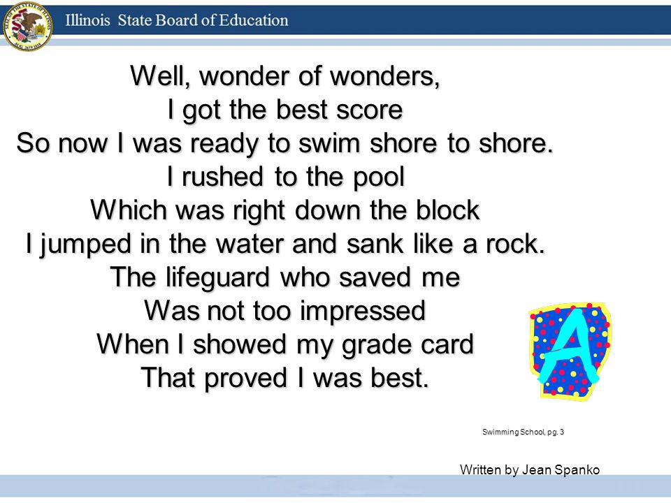 Well, wonder of wonders, I got the best score So now I was ready to swim shore to shore.