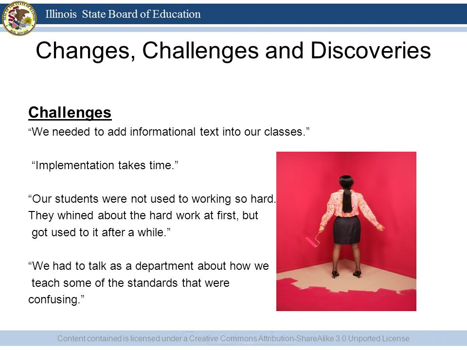 Changes, Challenges and Discoveries Challenges We needed to add informational text into our classes.