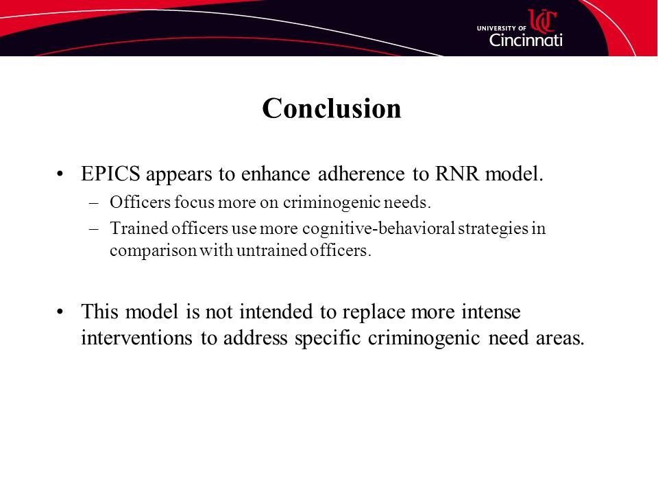 Conclusion EPICS appears to enhance adherence to RNR model.