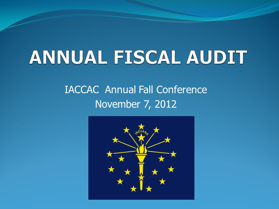 IACCAC Annual Fall Conference November 7, 2012