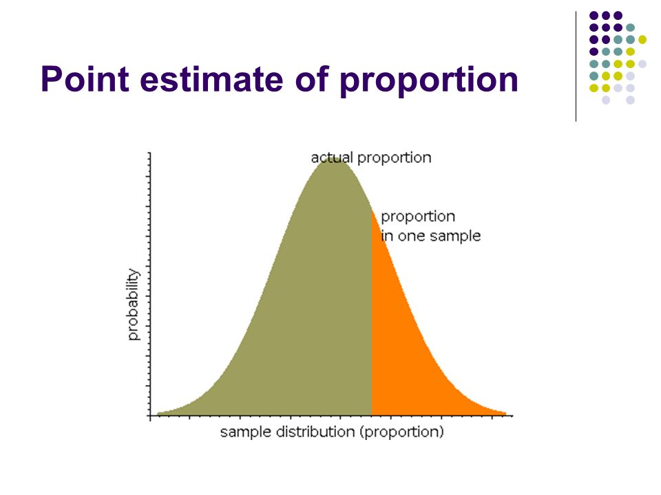 Point estimate of proportion