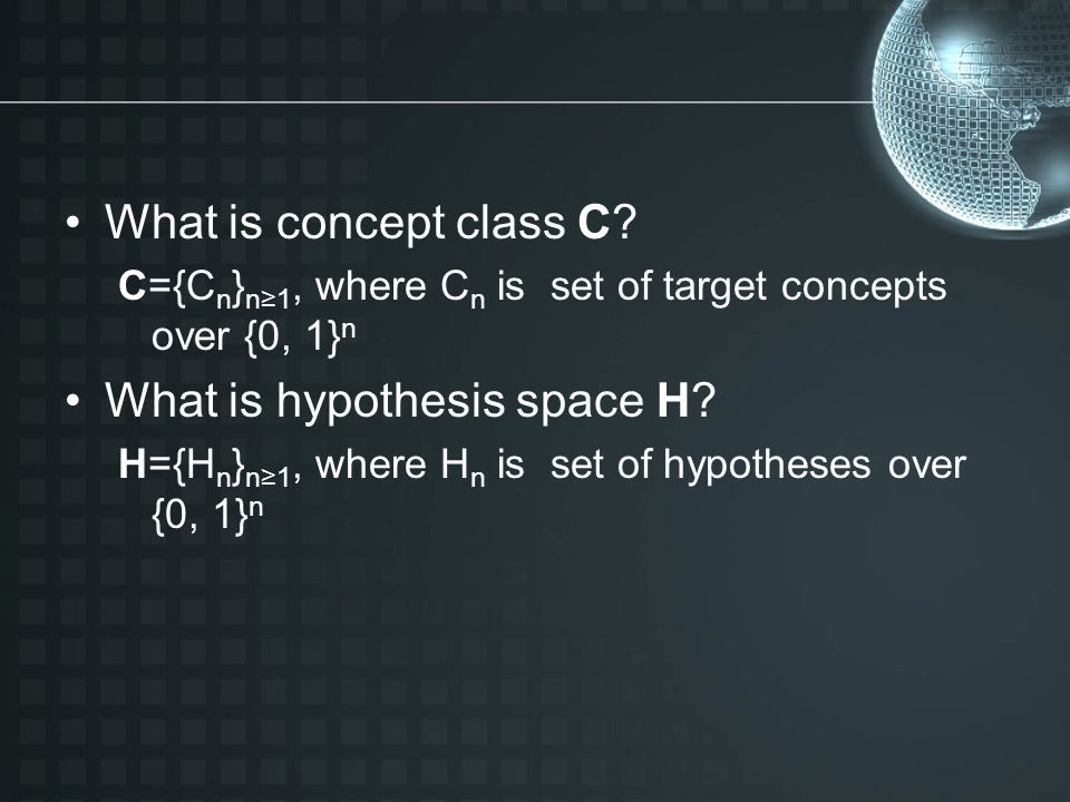What is concept class C.