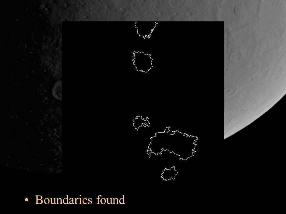 Boundaries found