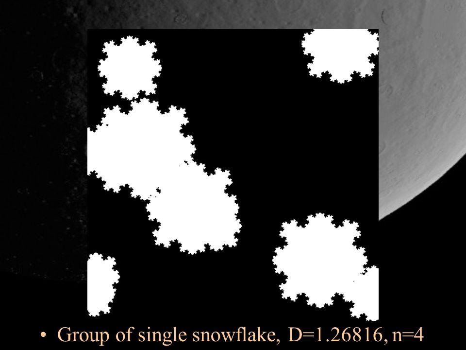 Group of single snowflake, D=1.26816, n=4