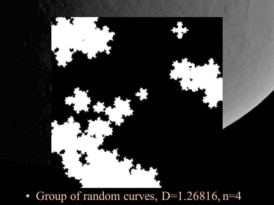 Group of random curves, D=1.26816, n=4