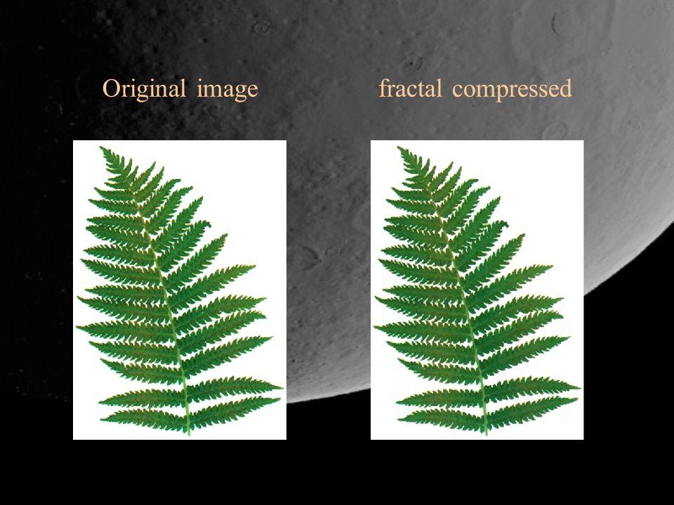 Original image fractal compressed