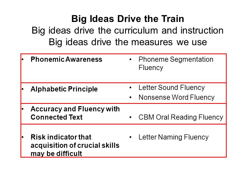 IN GENERAL, ORAL READING FLUENCY MEASURES PROVIDE QUALITATIVE INFORMATION ABOUT 3 BROAD COMPETENCIES: 1.