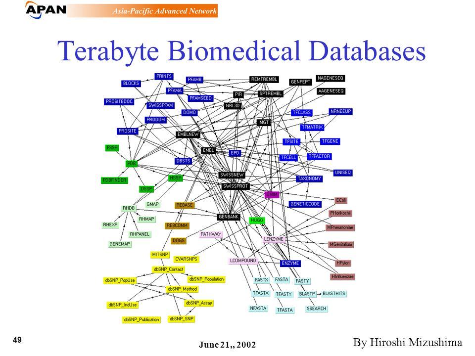 49 June 21,, 2002 Terabyte Biomedical Databases By Hiroshi Mizushima