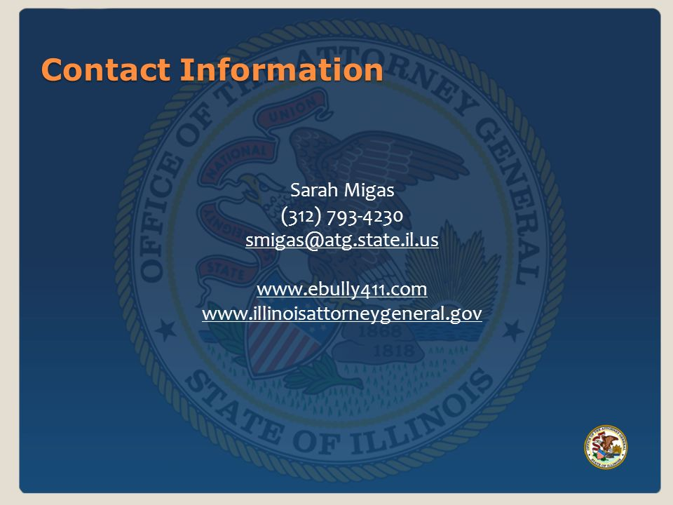 Contact Information Sarah Migas (312)