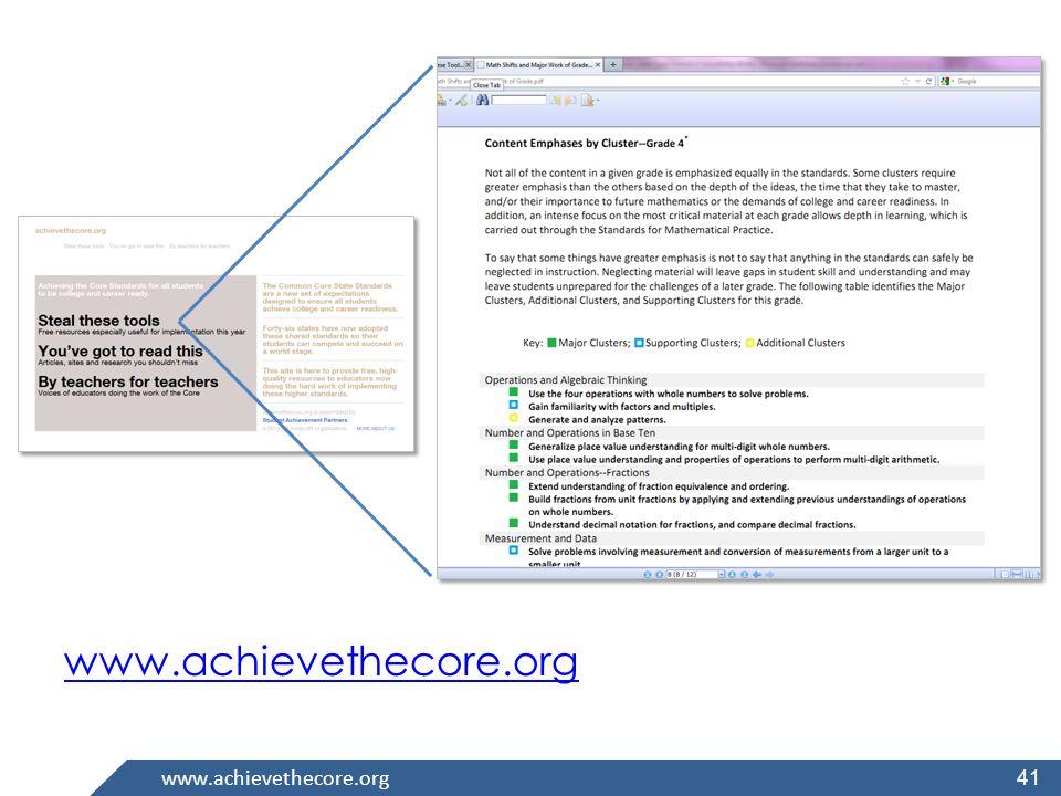 www.achievethecore.org 41
