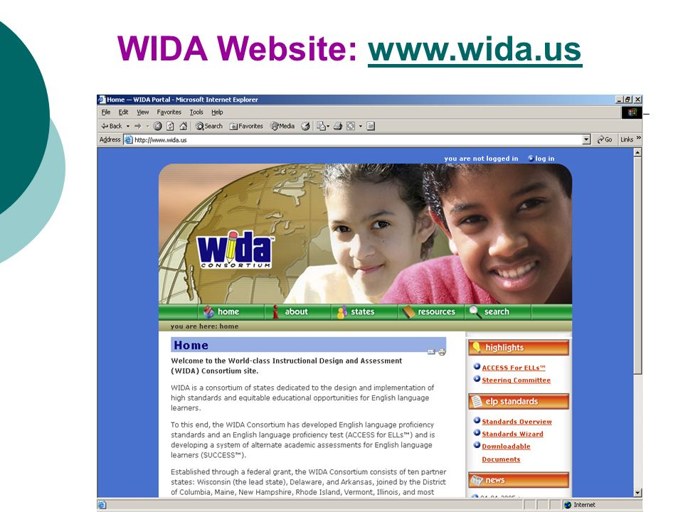WIDA Website: